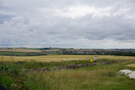 The walk to New Slains Castle