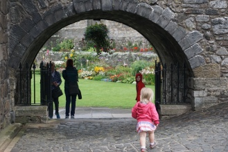 Walking towards the interior gardens