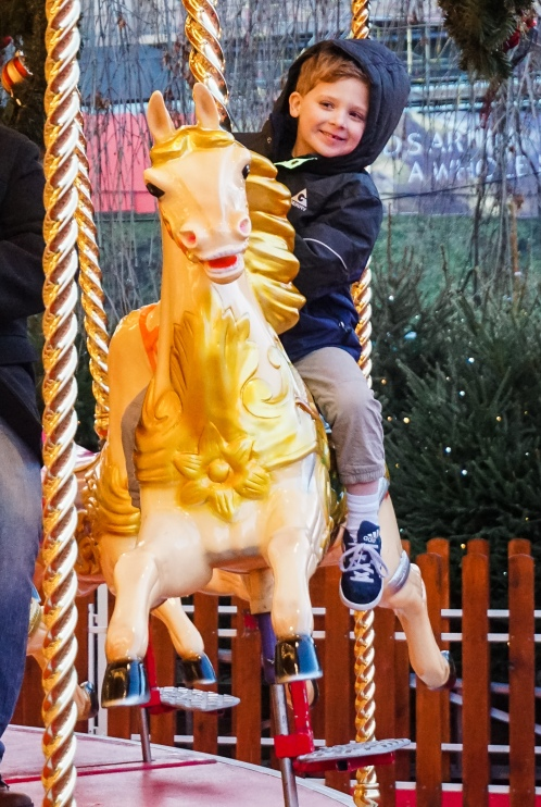 Brooks on the carousel
