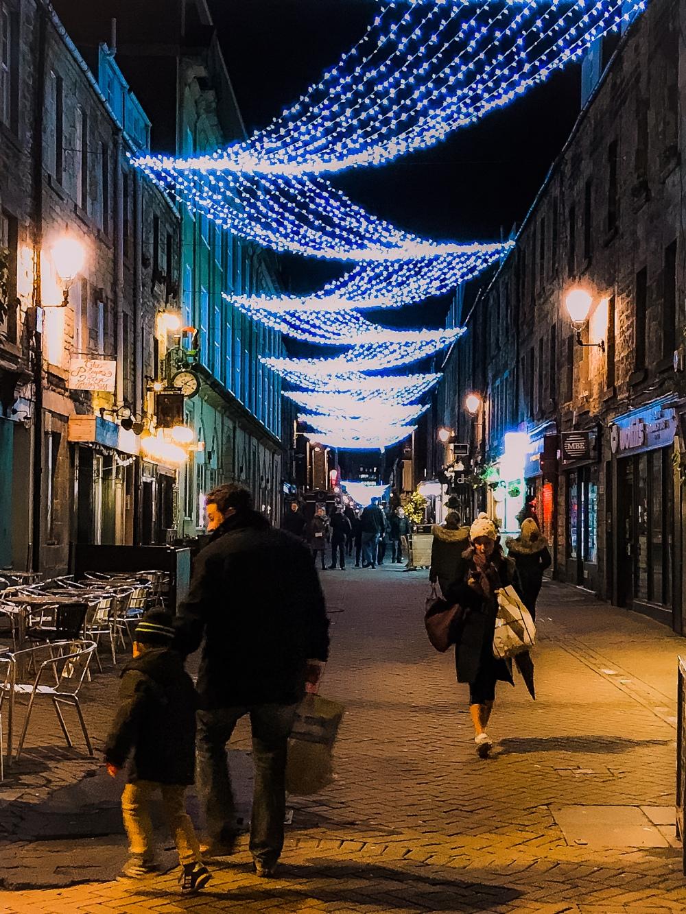 Lights on Rose St.