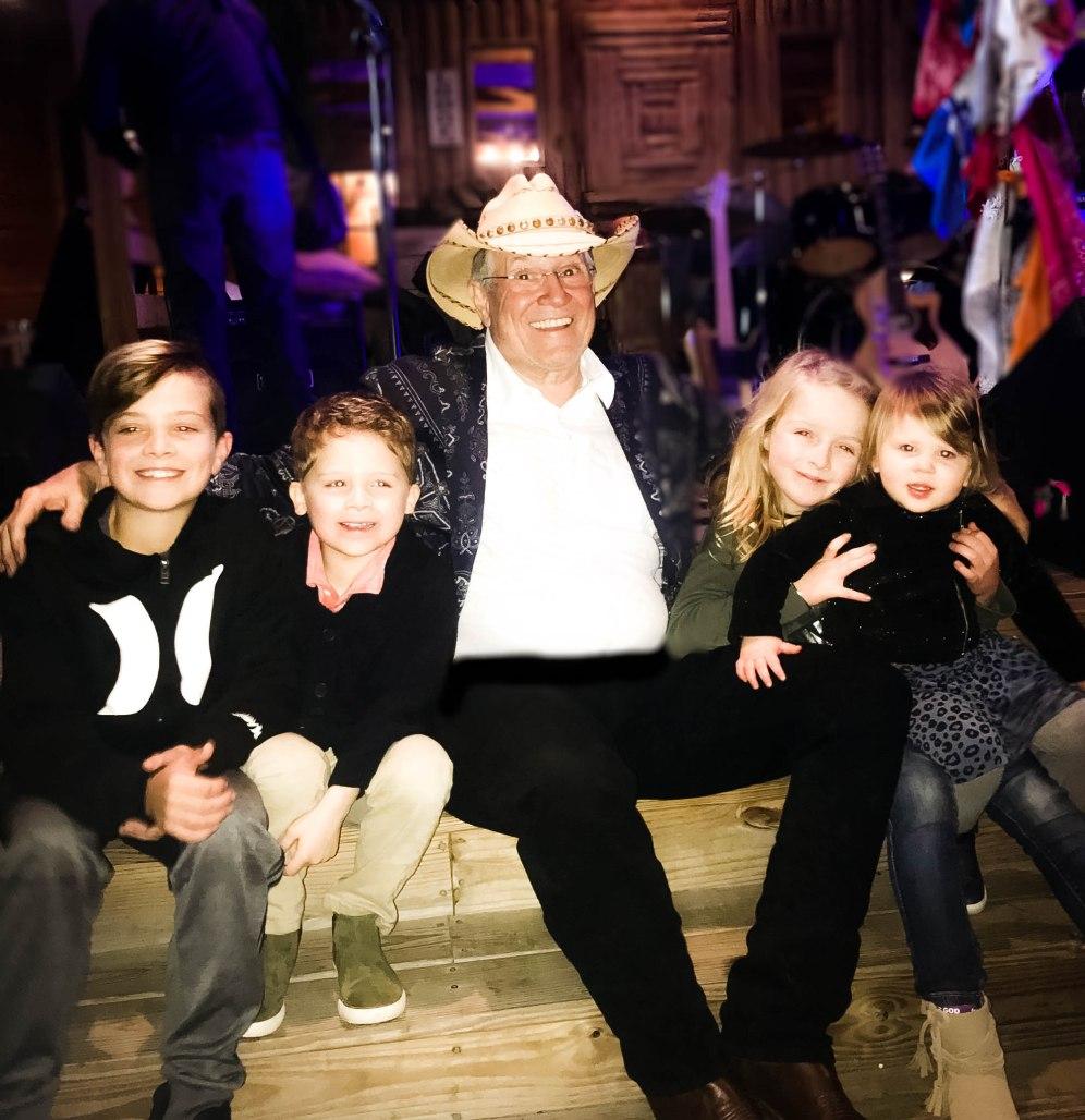 tex roc gig at clays - papa and grandkids